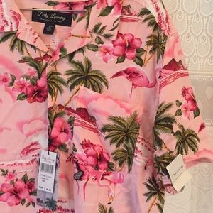 117c4fb8 dirty laundry Shirts - Dirty Laundry men's pink flamingo button-up